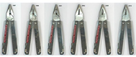 Victorinox SwissTool plier head design changes over time